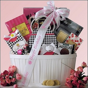 Trendy & Sweet: Birthday Gourmet Sweets Gift Basket