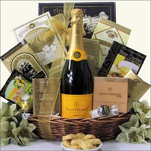 Veuve Clicquot Toast: Champagne Gift Basket