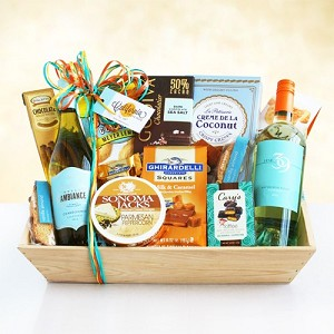 White Wine Favorites Gift Basket