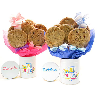 ABC New Baby Cookie Bouquet: 6 Cookies