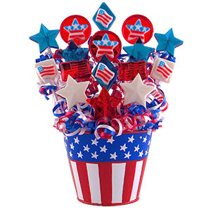American Dream Lollipop Candy Bouquet