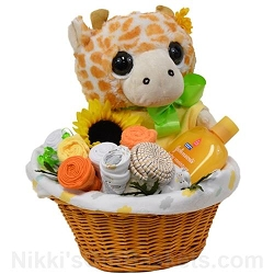 Baby Giraffe Flower Pot New Baby Gift Basket