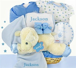 Baby Nap Time Personalized Baby Boy Gift Basket