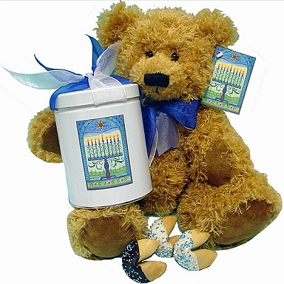 Classic Hannukah Chocolate Fortune Cookies & Bear