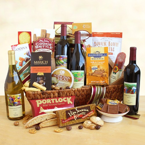 California Delight: Wine Gift Basket Collection