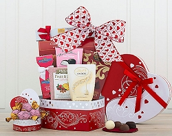 Chocolate and Sweets Valentine Gift Basket