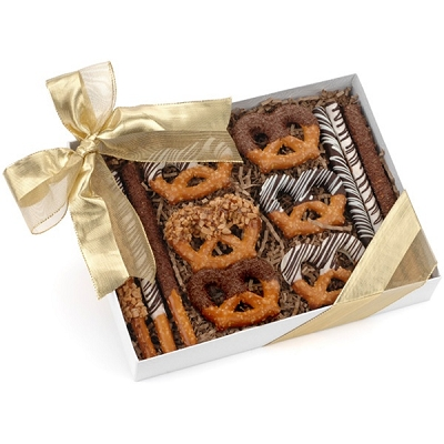Classic Chocolate And Caramel Pretzels -12