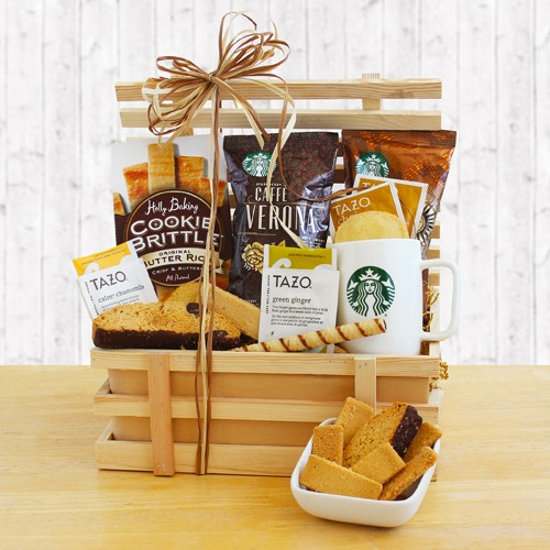 Country Coffee Lover Crate Gift Basket