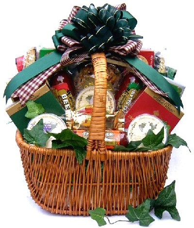 Deluxe Corporate Gourmet Cheese Gift Basket