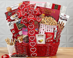 Deluxe Thoughts of You Sweets Collection Gift Basket