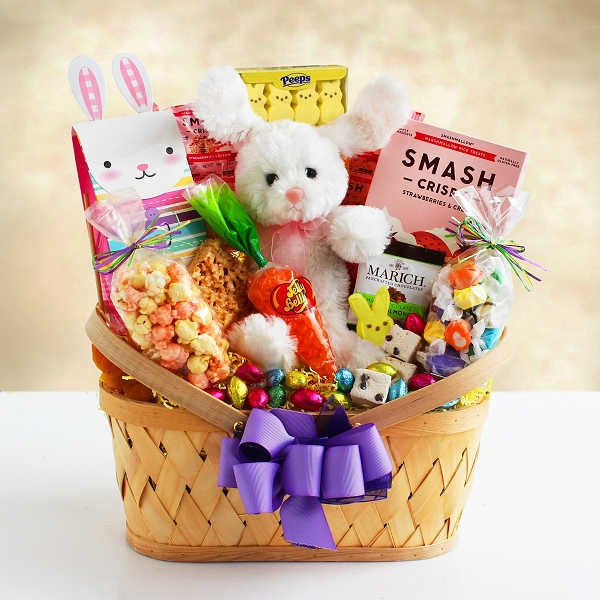 Easter Wishes: Bunny & Sweets Gift Basket