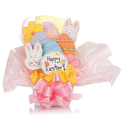 Easter Bunny Gourmet Cookie Bouquet