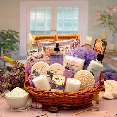 Essence Of Luxury: Lavender Bath & Body Spa Gift Basket