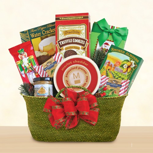 Evergreen Holiday Snacks Gift Basket