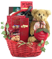 My Favorite Teacher Apple Collection Gift Basket