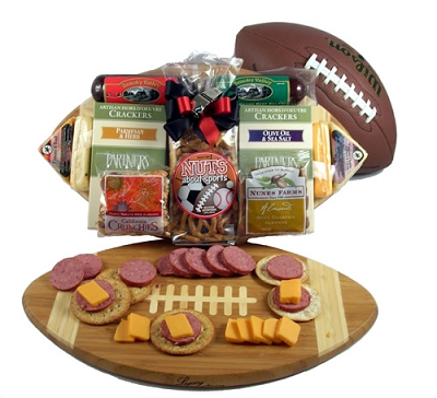 Football Favorites: Deluxe Football Gourmet Gift Basket