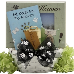 Forever Loved Dog Sympathy Gift Basket,