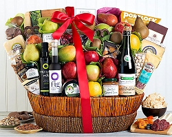 Luxurious Gourmet and Fruit Collection Gift Basket
