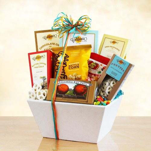 Fun Gift of Sweet and Snacks Gift Basket