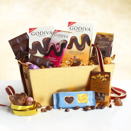Godiva Indulgence: Chocolate Lover's Gift Basket