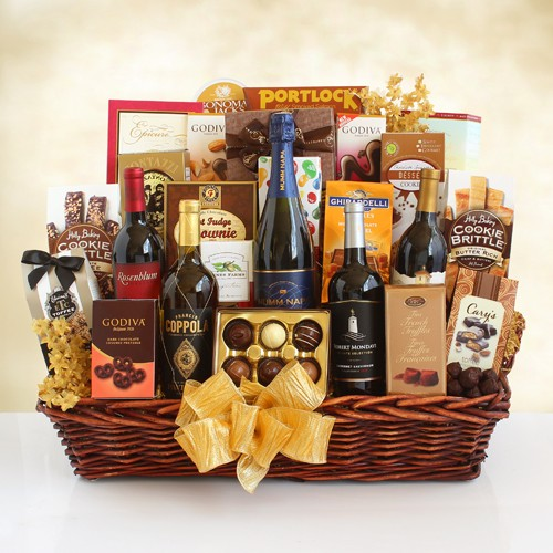 Grandeur Gourmet  and Wine Gift Basket