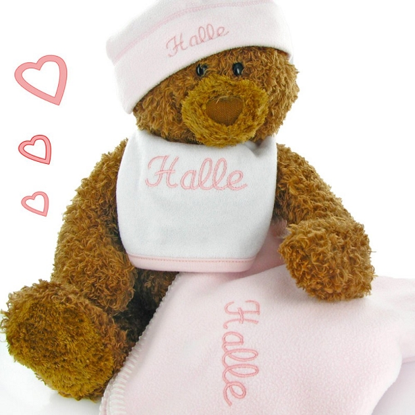Gund Bear Personalized Baby Gift Set