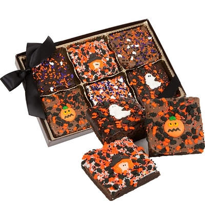 Halloween Triple Chocolate Brownies Gift Box