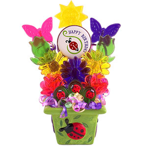 Ladybug Happy Birthday Candy Bouquet