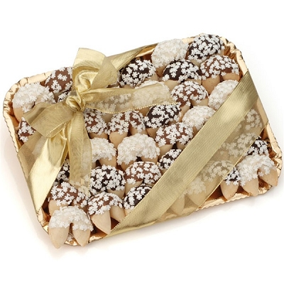 Holiday Gourmet Fortune Cookies Gift Tray