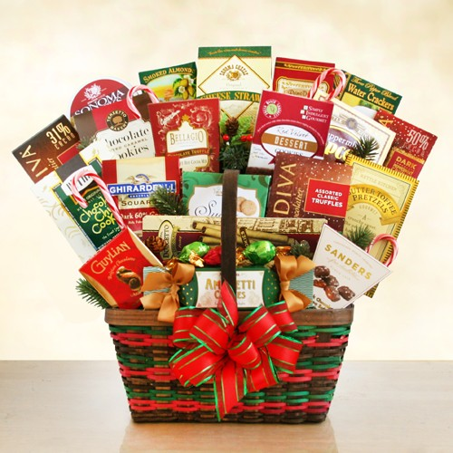 Deluxe Holiday Gourmet Merrymaker Gift Basket