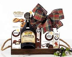Irish Country Cream Wine and Chocolate Gift Basket