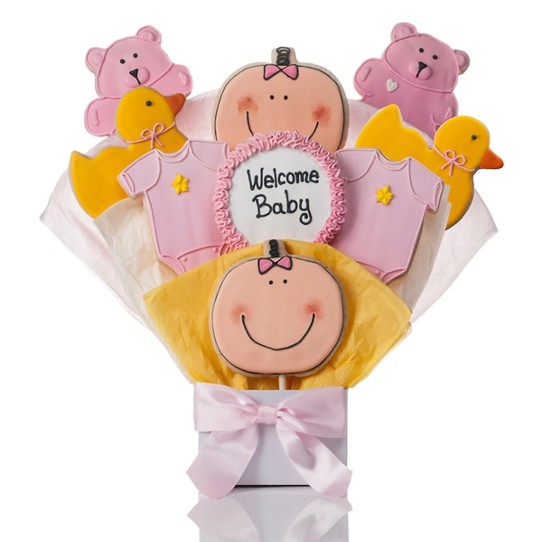 It's A Girl Cookies Bouquet Gift