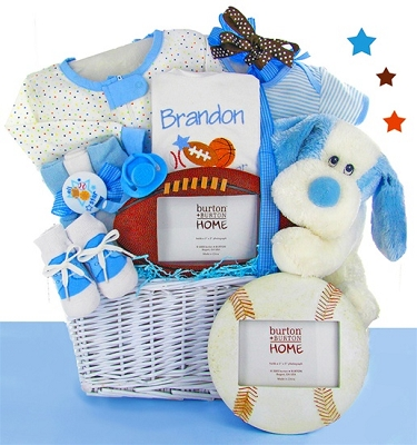Little Boy All Star Baby Gift Basket