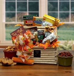 Log Cabin: It's Fall Day Gift Basket