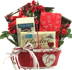 Love You! Valentines Day Gift Basket