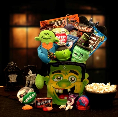 Monster Mash Halloween Sweets & Treats Basket