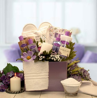 Mother's Day Blooming Spa Gift Basket