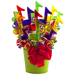 Musical Note Lollipop Candy Bouquet