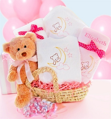 New Arrival Moses Baby Gift Basket-Girl