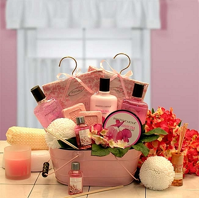 Pretty In Pink Spa Gift Basket