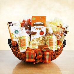 Pumpkin Spice Fall Spa Gift Basket