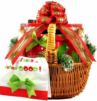 Santa's Keepsake Cookie Gift Basket