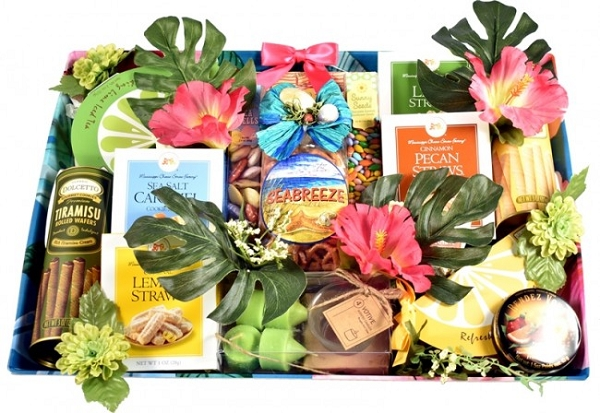 Seabreeze Tropical Gift Basket