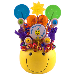 Smiley Birthday Lollipop Bouquet