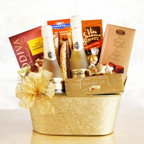 Sparkling Wine & Chocolate Gift Basket