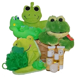 Splish Splash Bath: Froggy Baby Gift Basket