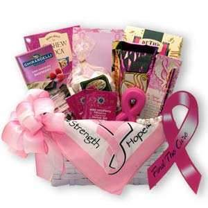 Courage, Hope & Strength  Find A Cure Gift Basket