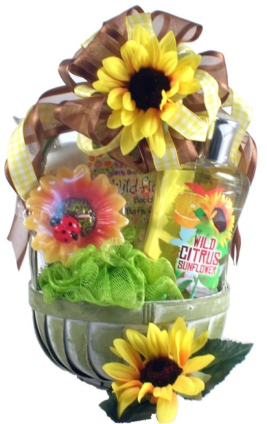 Sunflower & Citrus Delight Spa Gift Basket