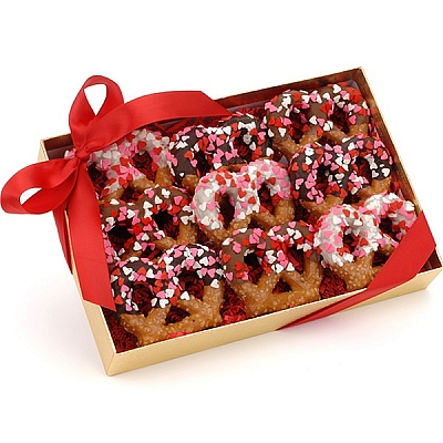 Sweetheart Chocolate Pretzel Twists Gift Box