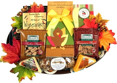 Fall Thanksgiving Gourmet Gift Basket Platter